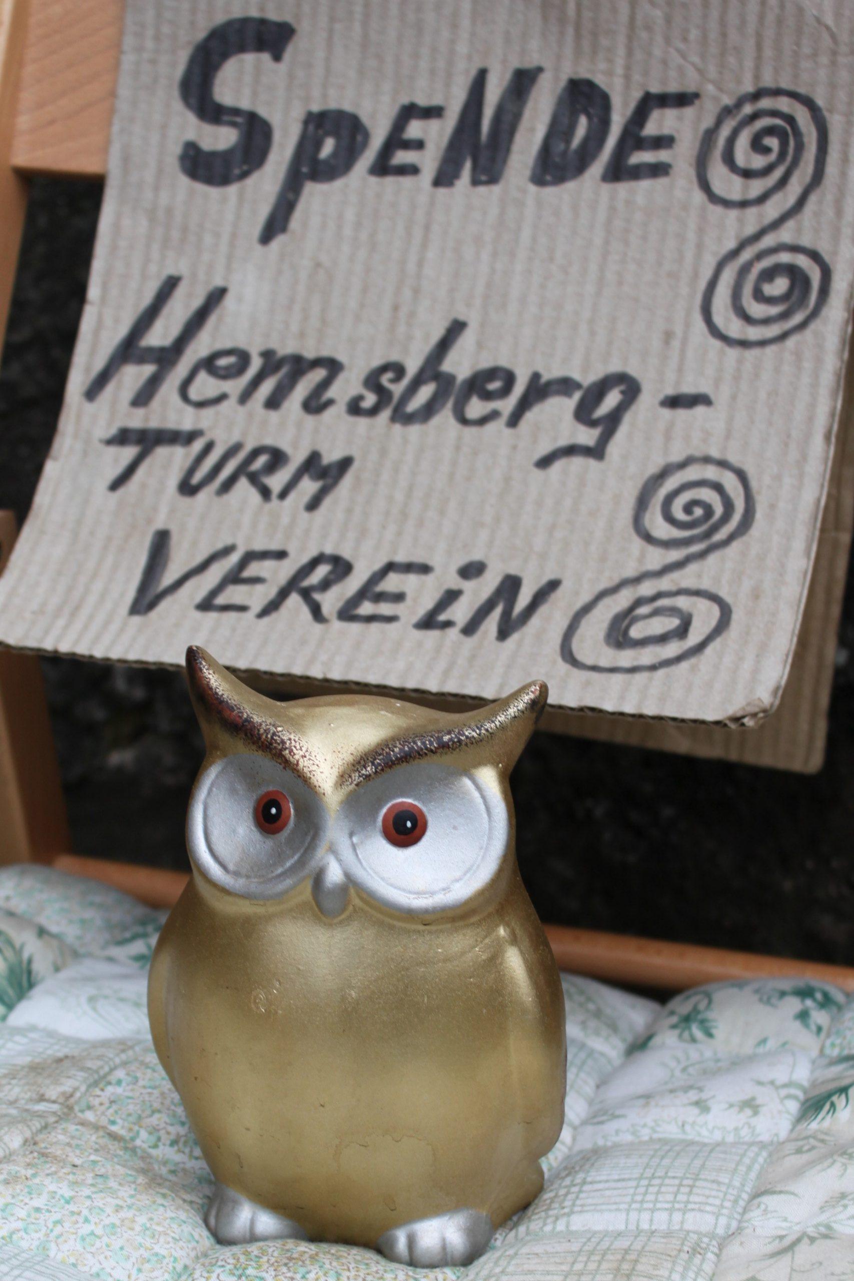 Spendeneule Hemsbergturmverein